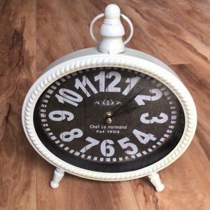 Chef Le Normand metal off white clock